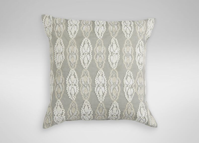 Giorgina Embroidered Decorative Pillow ,  , large_gray