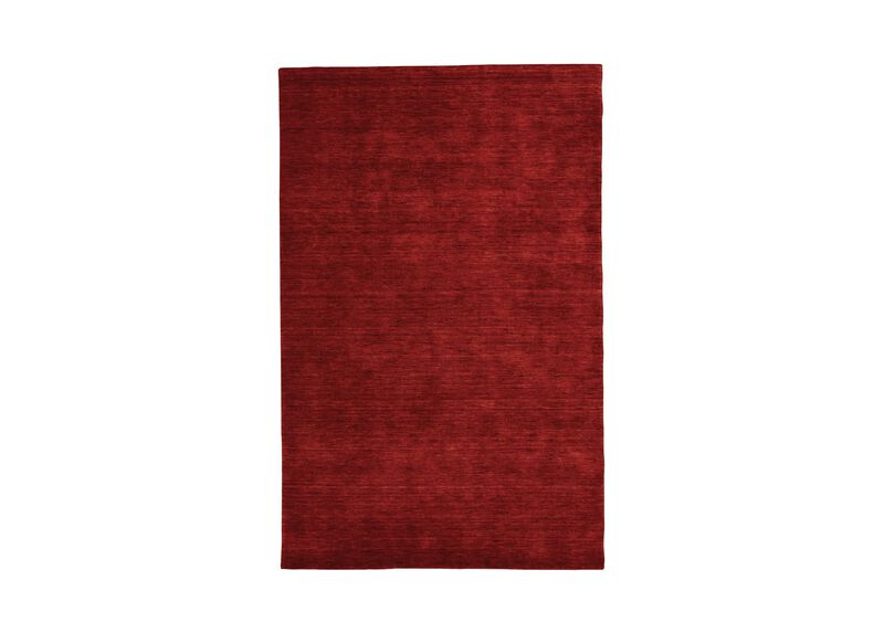 Loomed Wool Rug, Garnet Red
