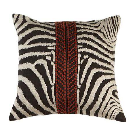 Modern Banded Zebra Pillow ,  , large