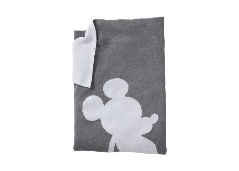 Mickey Mouse Mr. Mouse Stroller Blanket, Mouse Grey