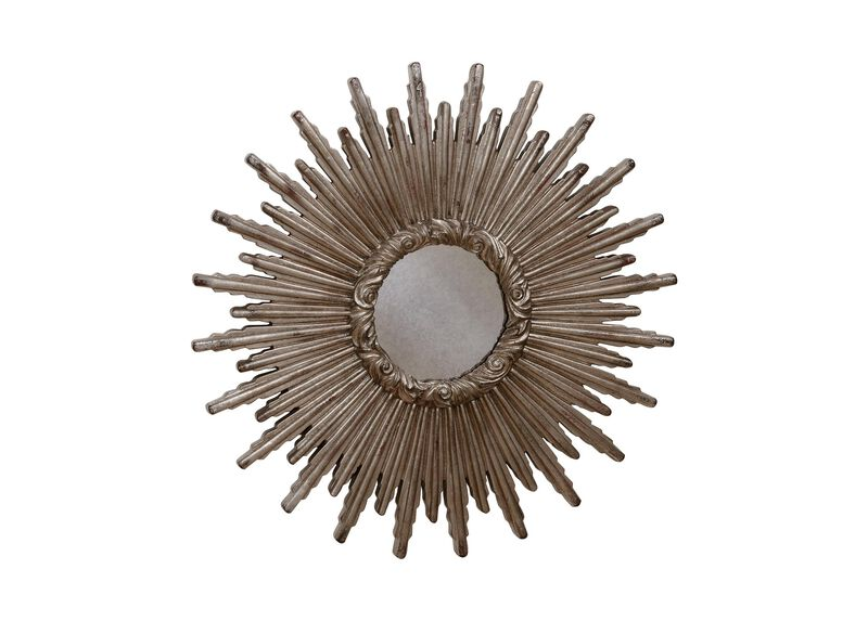 """24"""" Silver Starburst Mirror"""