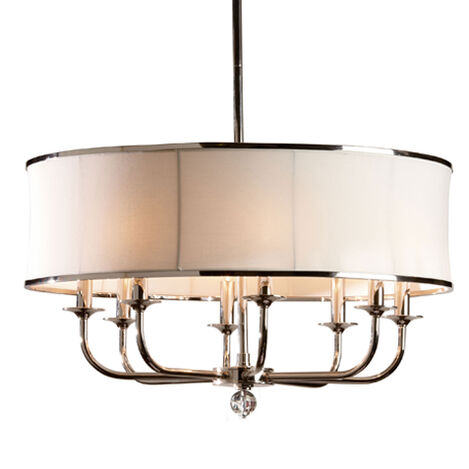 Shop chandeliers lighting collections ethan allen zoe eight light nickel chandelier large aloadofball Images