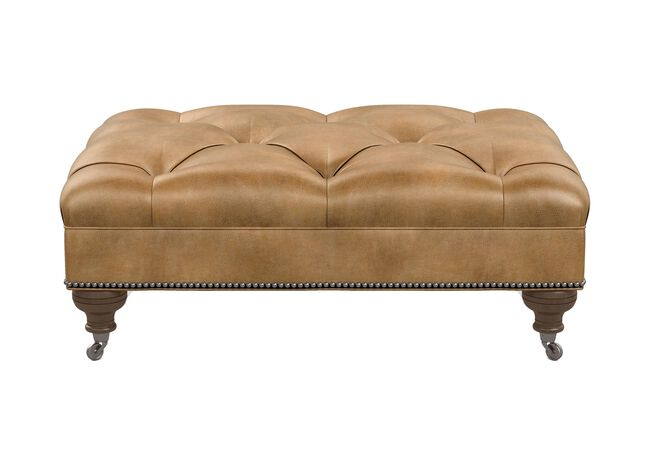 Pleasant Anton Leather Ottoman Ottomans Benches Ethan Allen Gmtry Best Dining Table And Chair Ideas Images Gmtryco