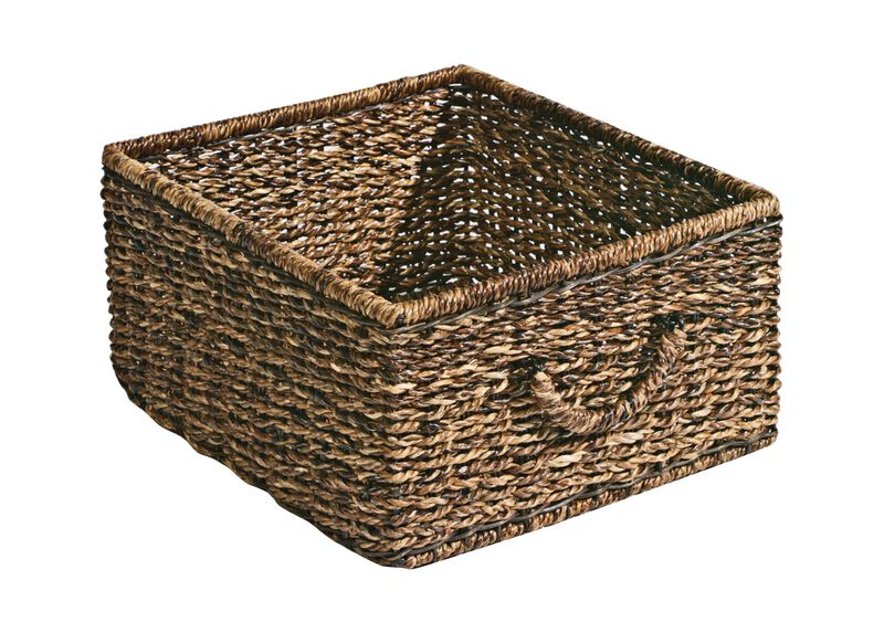 Dark Abaca Storage Basket