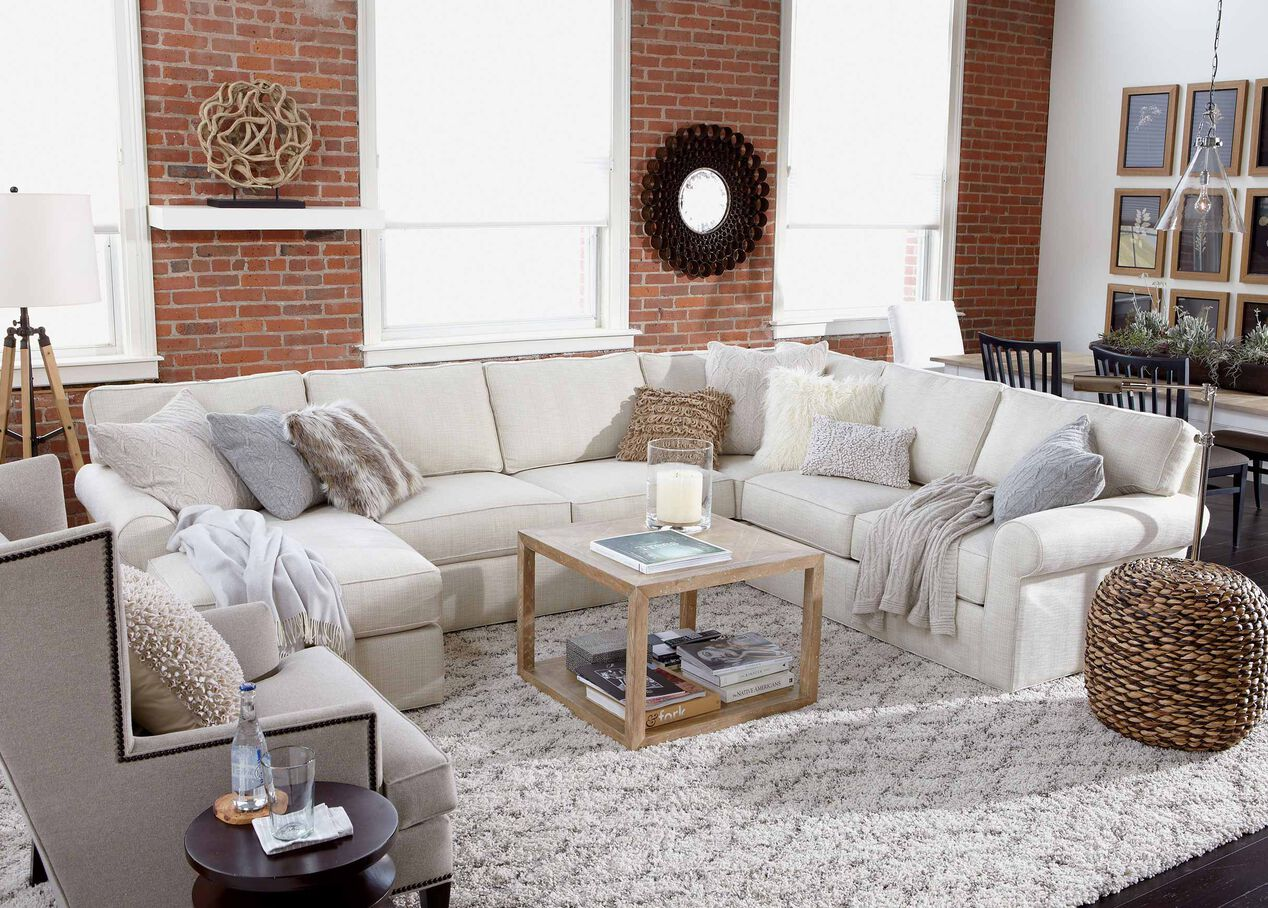Retreat roll arm sectional with chaise sectionals for Chaise for living room