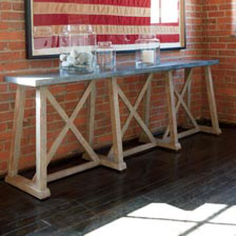 Bruckner Metal-Top Console Table Product Tile Hover Image 128528Z