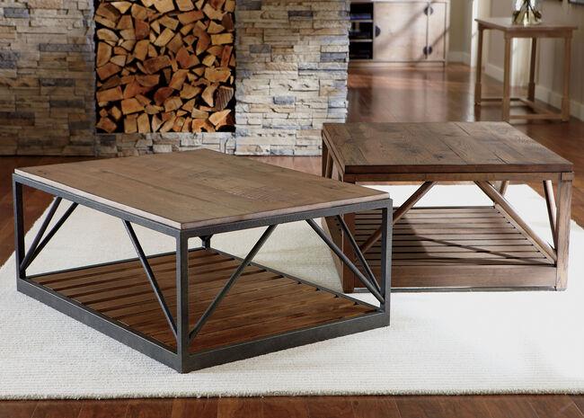 Beam Metal Base Coffee Table Styleshot 19