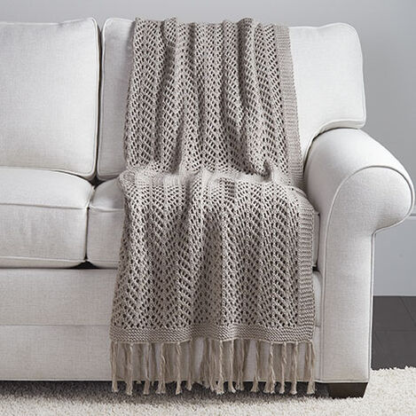 Pointelle Knit Throw Product Tile Image 031794MST