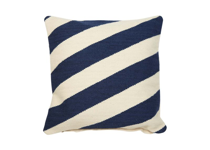 Diagonal Stripe Wool Pillow ,  , large_gray