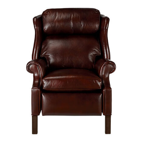 relaxing elliott leather in house chairs modern recliner spour chair