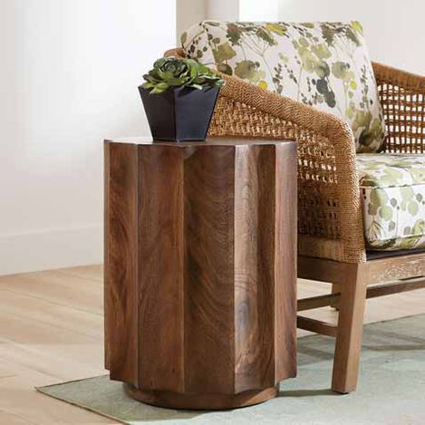 Girard Reclaimed Wood End Table Product Tile Hover Image 228033