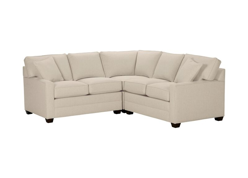 Bennett Track-Arm Three Piece Sectional, Quick Ship , Hailey Natural (Q1031), solid texture , large_gray