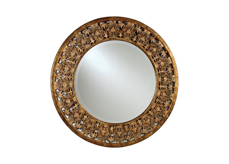 Round Florentine Mirror ,  , large_gray