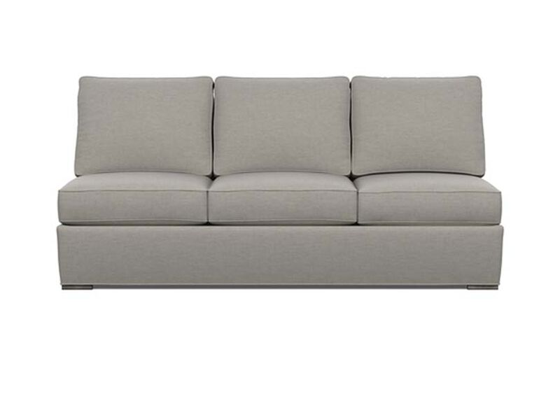 Meeting Place Armless Sofa , Zest Steel (D1053), strie texture , large_gray