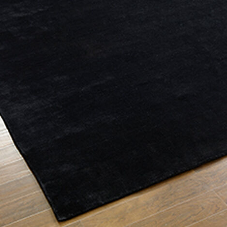 Loomed Wool Rug, Black ,  , hover_image