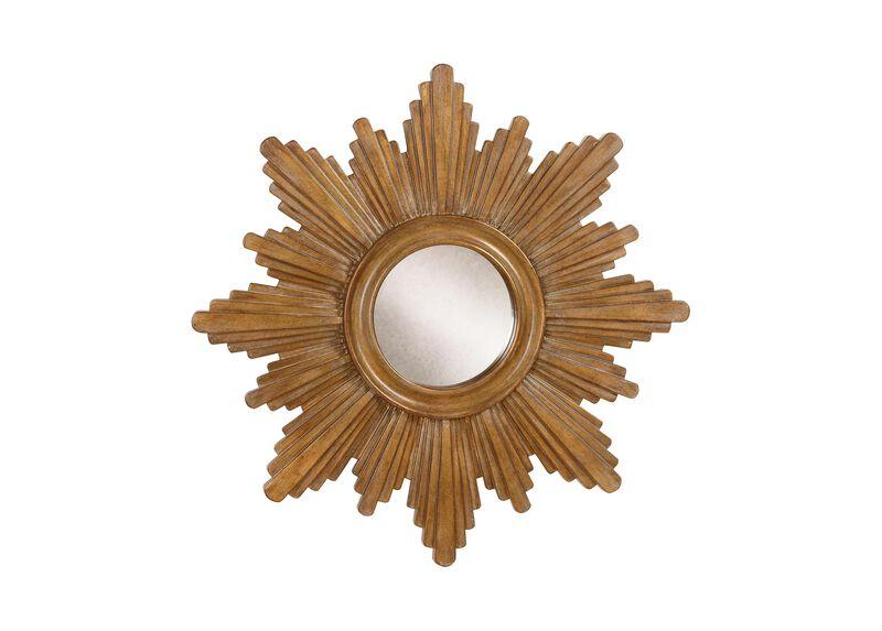 """26"""" Gold Sunburst Mirror"""
