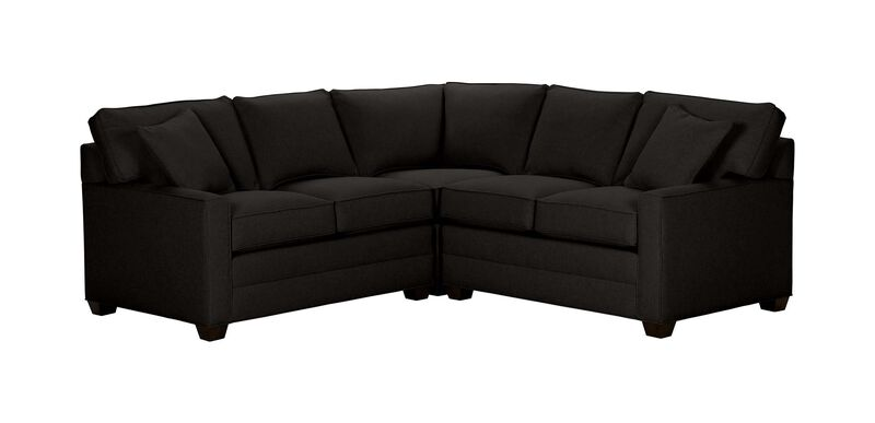 Bennett Track-Arm Three Piece Sectional, Quick Ship , Hailey Charcoal (Q1055), solid texture , large_gray