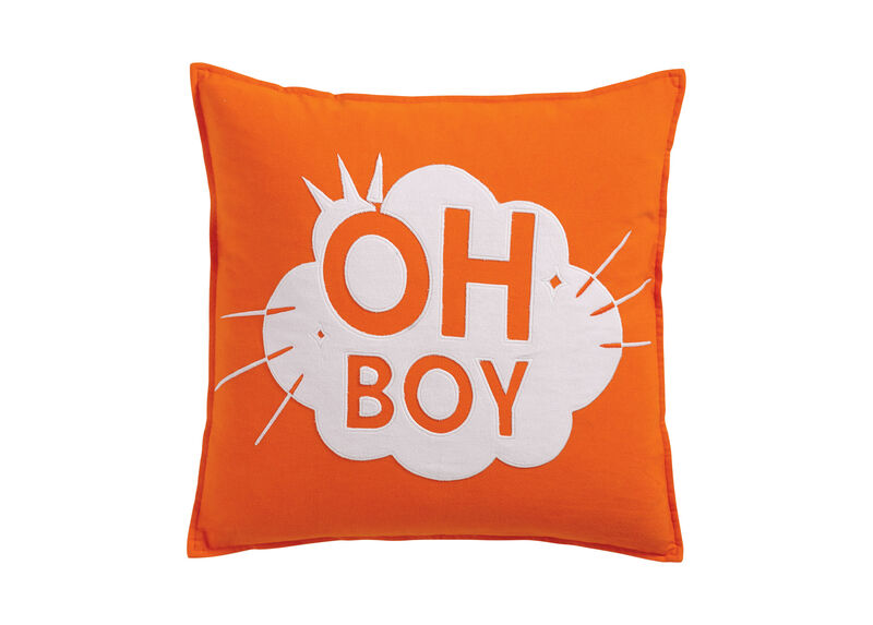 Mickey Mouse Oh Boy Pillow, Carrot