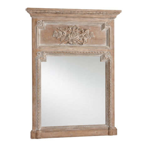 Aged Oak Madeleine Trumeau Wall Mirror ,  , large