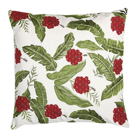 Embroidered Hibiscus Pillow Product Tile Image 065653