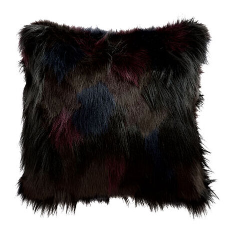 Faux Fur Mosaic Pillow ,  , large