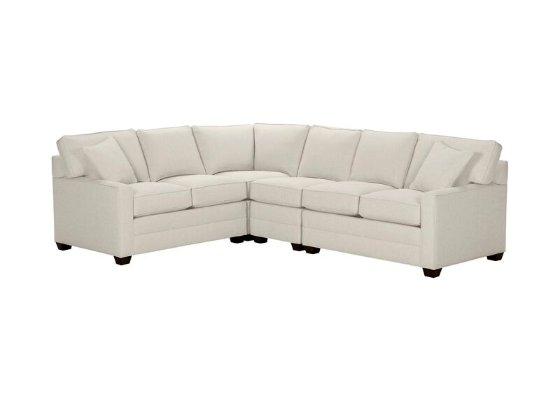 Bennett Track-Arm Four Piece Sectional, Quick Ship , Hailey Ivory (Q1032), solid texture , large_gray