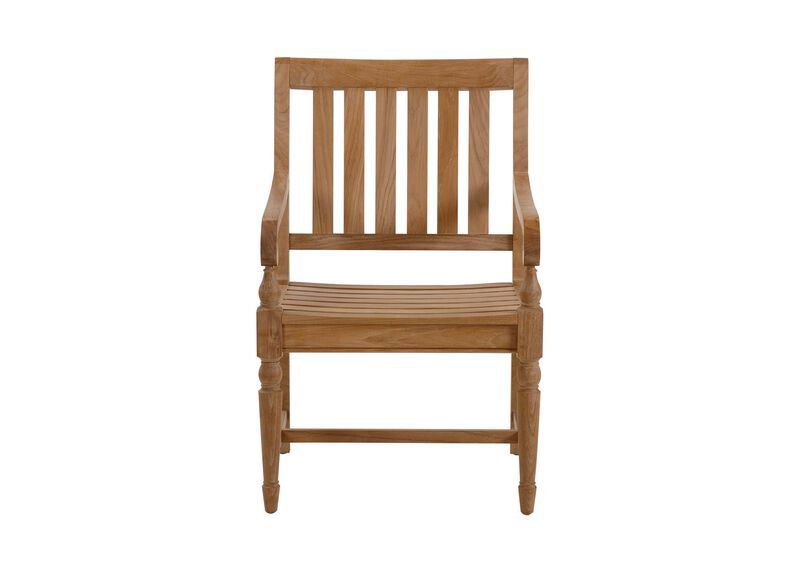 Millbrook Wood-Seat Armchair