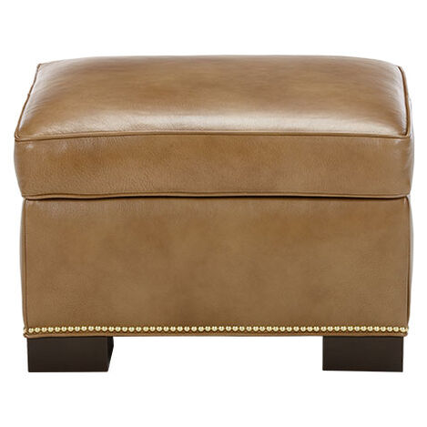 Astor Leather Ottoman ,  , large
