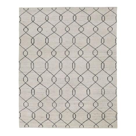 Tulu Trellis Rug, Natural/Black Product Tile Image 041552
