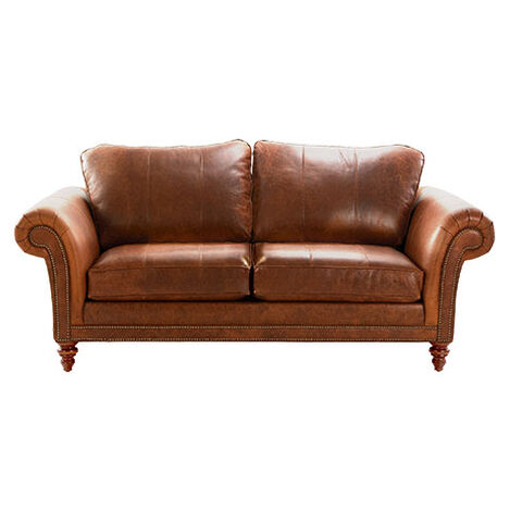 Savoy Leather Sofa, Maxwell Parquet ,  , large