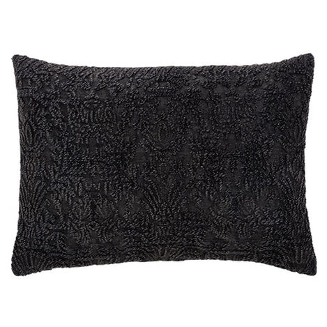Distressed Black Chenille Pillow Product Tile Image 061324   BLK