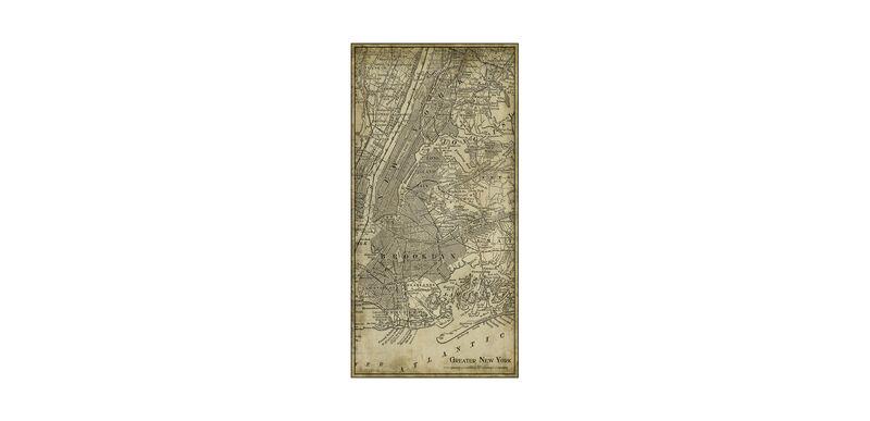 NYC Map I Vintage