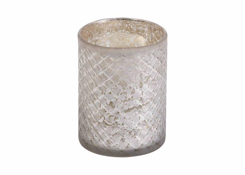 Diamond-Etched Glass Hurricane