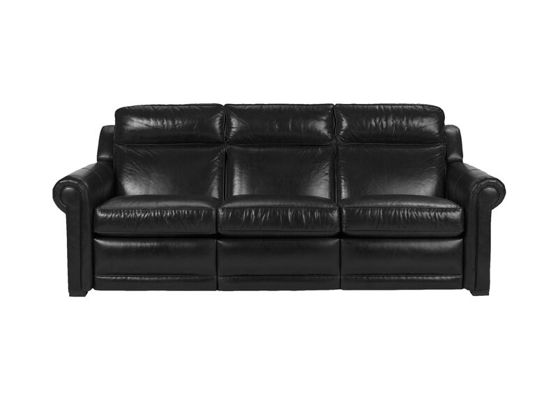 Johnston Roll-Arm Leather Incliner Sofa ,  , large_gray