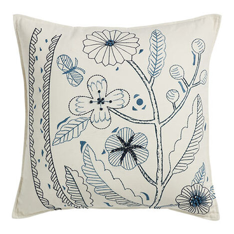 Botanical Embroidered Pillow Product Tile Image 065688