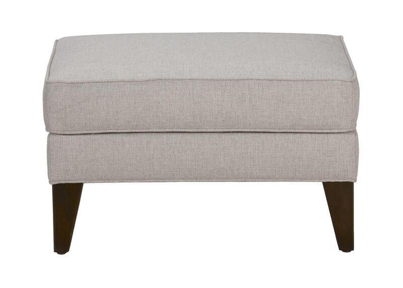 Emerson Ottoman, Quick Ship , Hailey Slate (Q1054), solid texture , large_gray