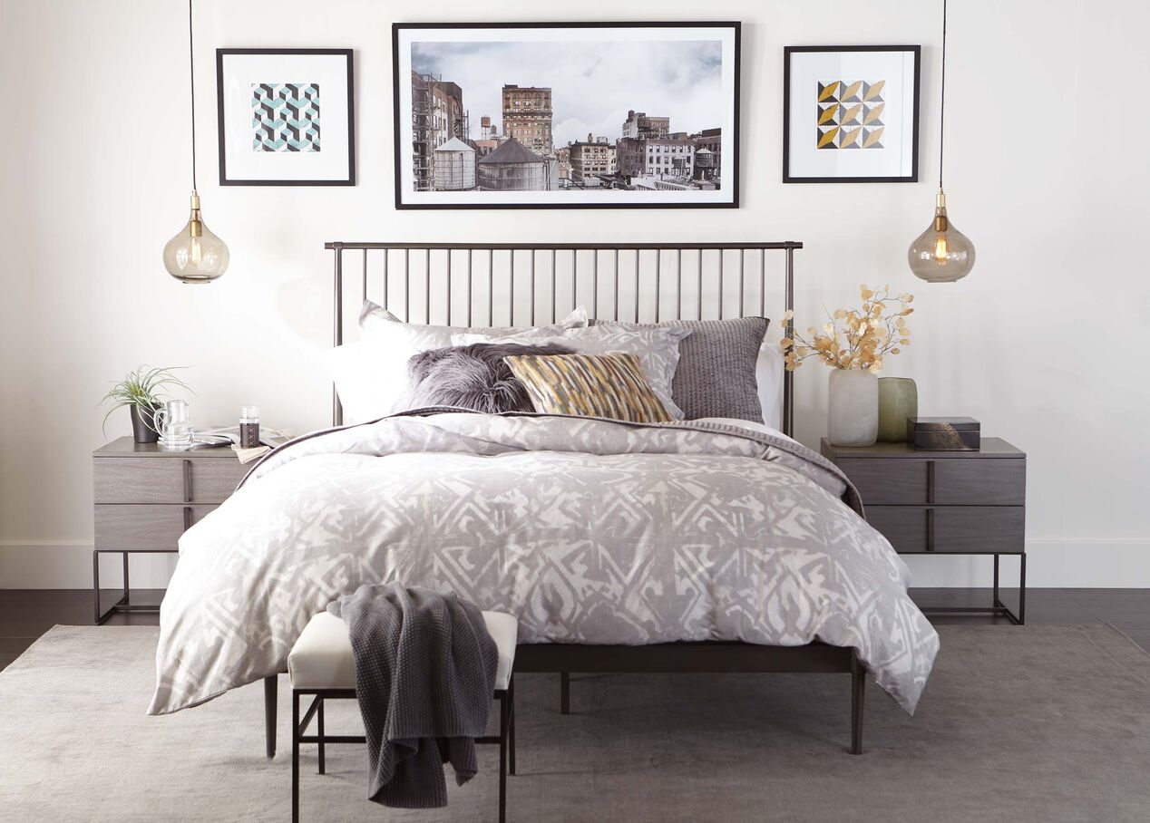 Emmett Metal Minimalist Bed | Ethan Allen Beds | Ethan Allen on