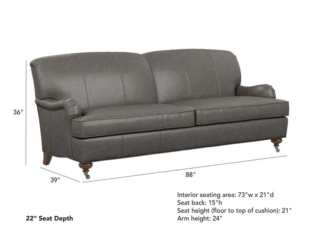 Oxford Leather Sofa Ethan Allen