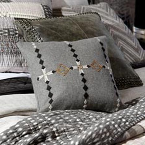 Modern Gray Embellished Pillow ,  , hover_image
