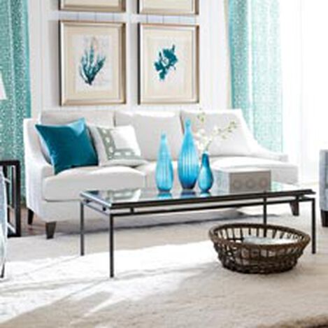 Bit of Blue Living Room   Living Room   Ethan Allen