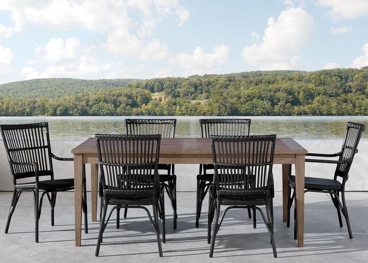 Bridgewater Cove Teak Outdoor Dining Table Ethan Allen Outdoor Ethan Allen