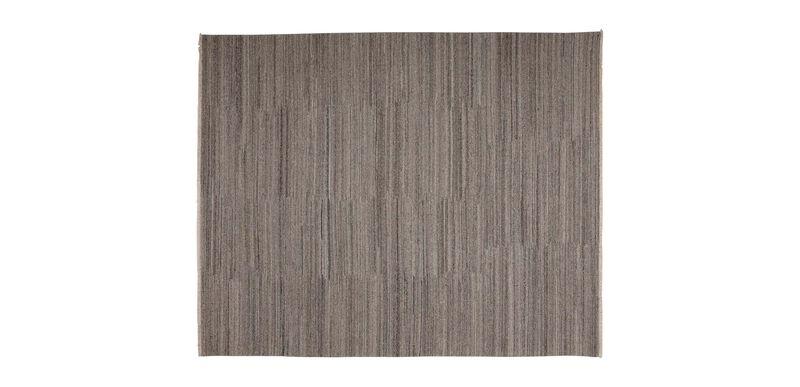 Wool Soumak Rug, Light Gray