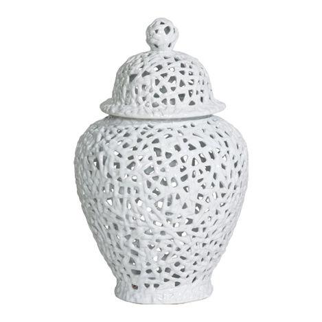 White Pierced Temple Jars Product Tile Image piercedtemplejar