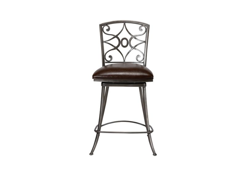Baylor Swivel Counter Stool ,  , large_gray
