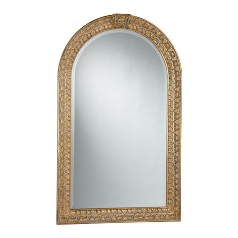Antique Gold Arched Mirror ,  , large