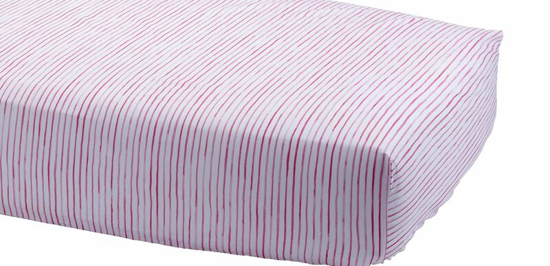Paint Stripe Crib Sheet, Minnie Pink