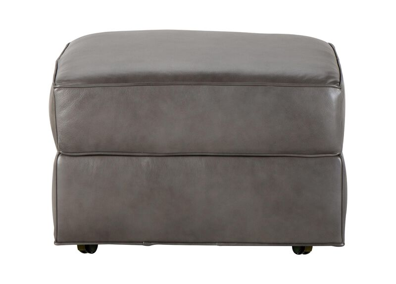 Retreat Leather Ottoman, Quick Ship