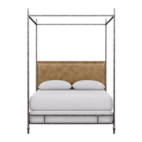 Lincoln Leather Upholstered Poster Bed ,  , large