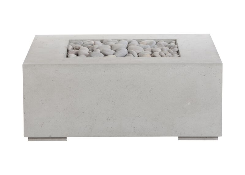 Square Concrete Fire Table