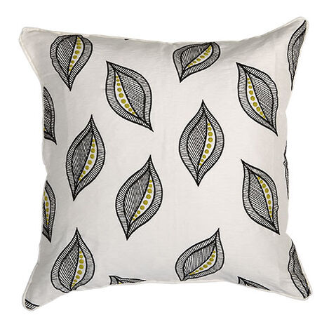 Embroidered Leaf Pillow Product Tile Image 065655